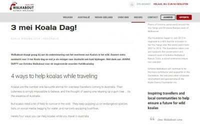How Dutch tourists can help koalas