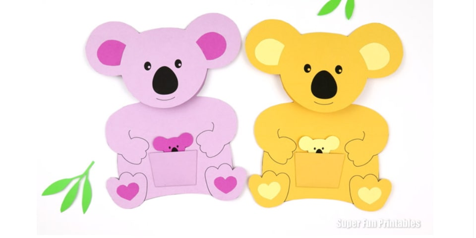make a koala card for wild koala day