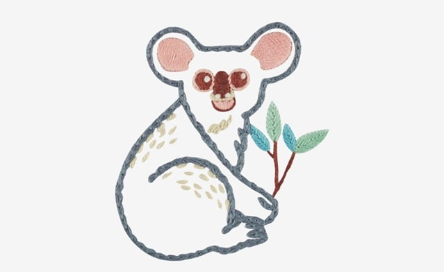 Koala embroidery pattern