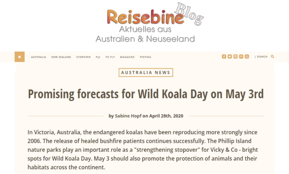 Wild Koala Day mentioned in Germany
