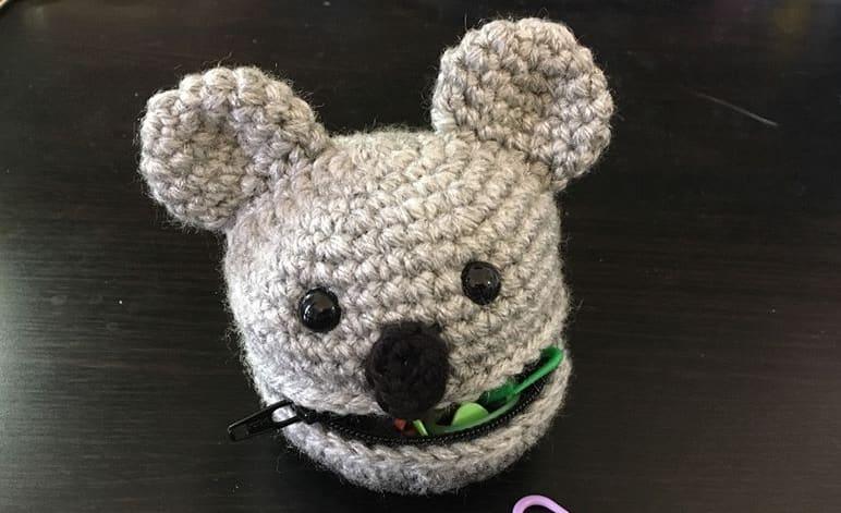 Crochet a Koala pouch