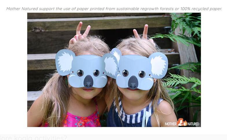 make your own koala mask