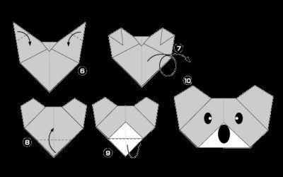 Origami Koala Mask