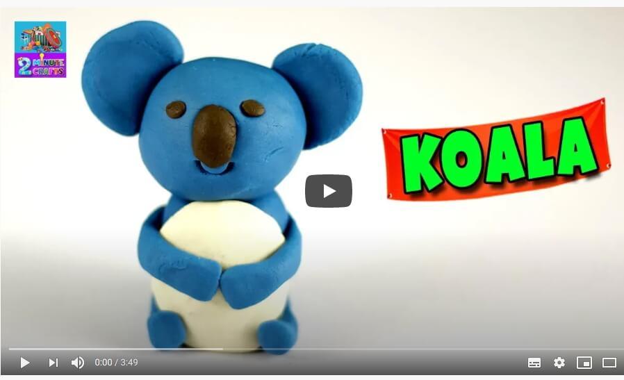 Make a koala from Play Doh