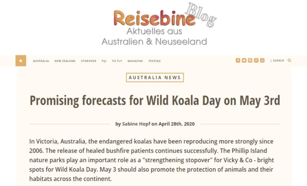 wild koala day publicity germany
